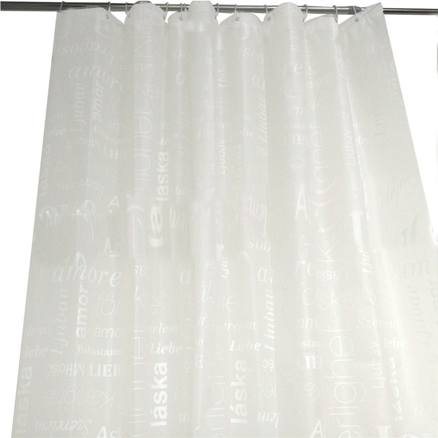 New Waterproof Bathroom Shower Curtain 1PC 180x180 Cm Bath Liner Clear Non Toxic Mold Resistant 30