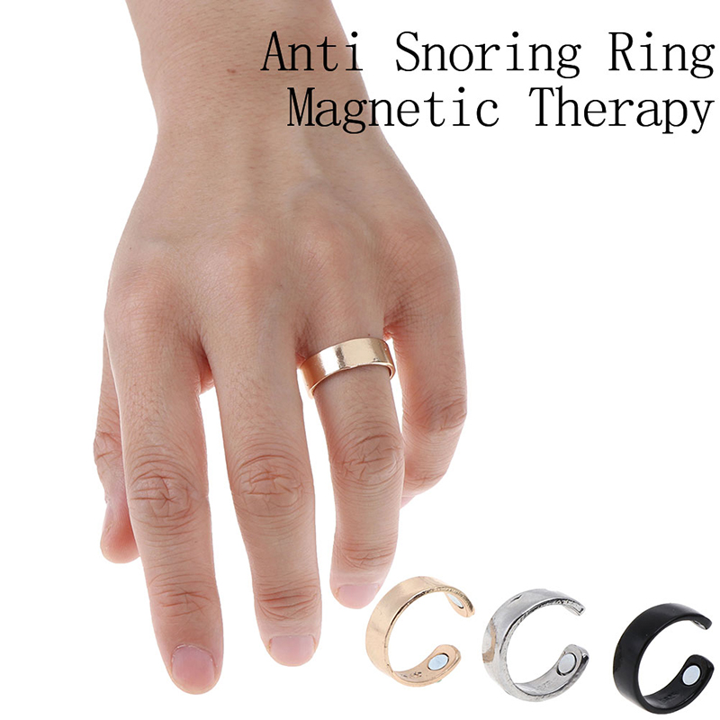 1PCS New Anti Snore Ring Titanium Alloy Treatment Reflexology Anti Snoring Apnea Sleeping Device Promotion Price(China)