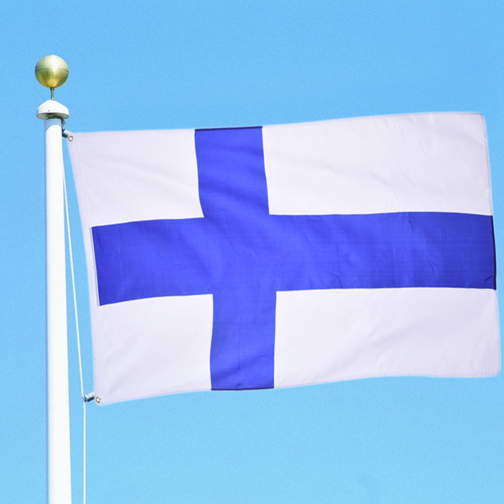 New Polyester Finland the Finland National Country Flag Hanging Banner for Festival Celebration Events Activity so on 90*150cm