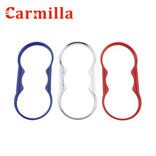 Carmilla Car Water Cup Decoration Trim Sticker ABS Chrome Accessories Case for Ford Fiesta 2009-2015 Focus 2 2009 – 2012