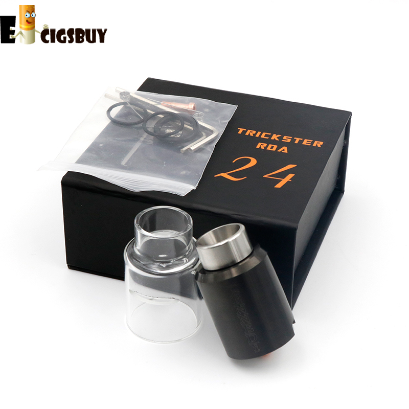 Kennedy 24S RDA Rebuildable Dripping Atomizers Replacement Glass Tube No Leak Design Huge vapor mods e