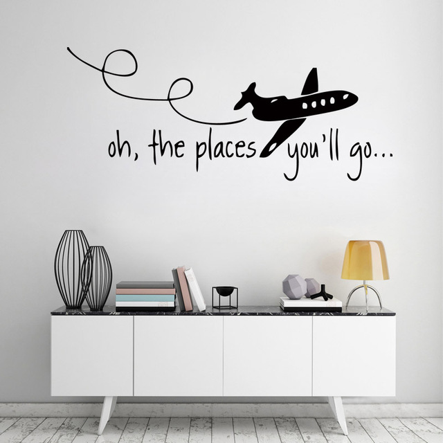 D214 OH THE PLACES YOUu0027LL GO Dr Seuss Kids Wall Decal Hunting Quote Vinyl  sc 1 st  AliExpress.com & D214 OH THE PLACES YOUu0027LL GO Dr Seuss Kids Wall Decal Hunting Quote ...