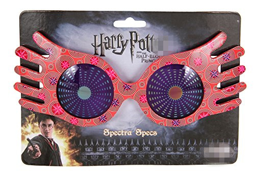 Original New Hot Toy Harry - Luna Lovegood Spectrespecs Costume Party Glasses Collectible PVC Model Toy For Gifts Cosplay