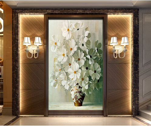 8d/5d Large Papel Flower in vase Murals 3d Wall Mural Wallpaper for Living Room Home Decor 3d Wall Photo Murals Wall Paper custom photo wallpaper 3d wall murals balloon shell seagull wallpapers landscape murals wall paper for living room 3d wall mural