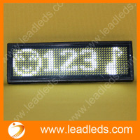 High Brightness LED Card Programmable Moving Message Display Screen White Light Fixing on Clothes Lighting Led Name Card Lamp