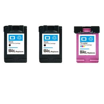 664 ink cartridge 3 Pcs Ink Cartridge For HP 664XL Black & Tri-color For HP DeskJet 1115 2135 3635 1118 2138 3636 3638 4536 467