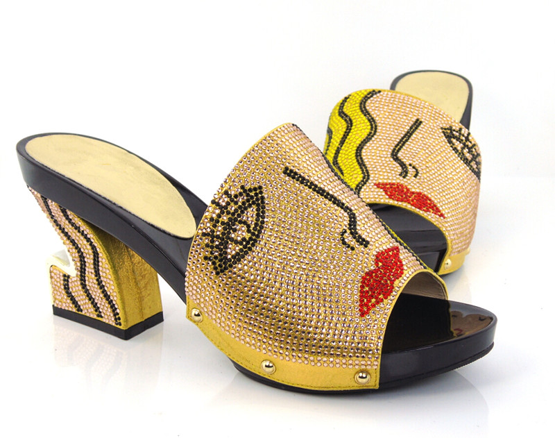 ФОТО Item No.KL1604-GOLD New arrival fashion nice matching shoe