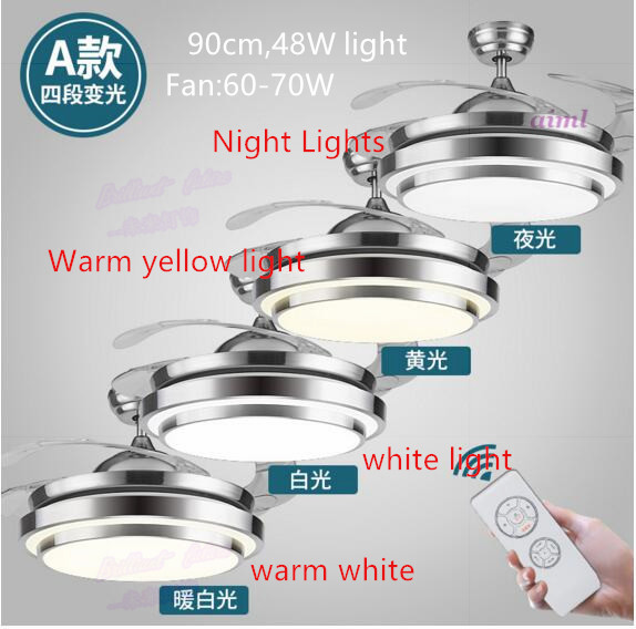 Fan 36 42 Inch 3 Warna Berubah Lampu Led Modern Tak Terlihat Ceiling Fan Lampu Remote Control Lampu Langit Langit 90 108 Cm 110 V 220 V 240 V Fan Ceiling Invisible Ceiling Fanceiling Fans Light Aliexpress