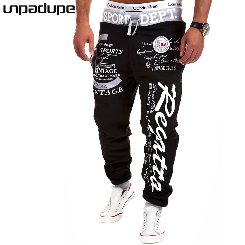 Pants Men New Arrived 2018 Brand Casual Joggers Letter Printing Compression Pants Men Co ...