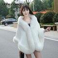 Mel Qiao Capa De Noiva Elegante Barato 2016 Branco Morno do Inverno Casaco De Pele Preto Mulheres Bolero de Casamento Jacket Nupcial Cloaks