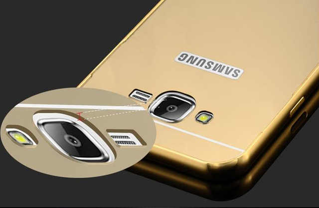 Luxury Mirror Case For Samsung Galaxy S3 S4 S5 S6 Metal Aluminum Frame For Samsung S6 Edge S7 Edge Note 2 Acrylic Back Cover