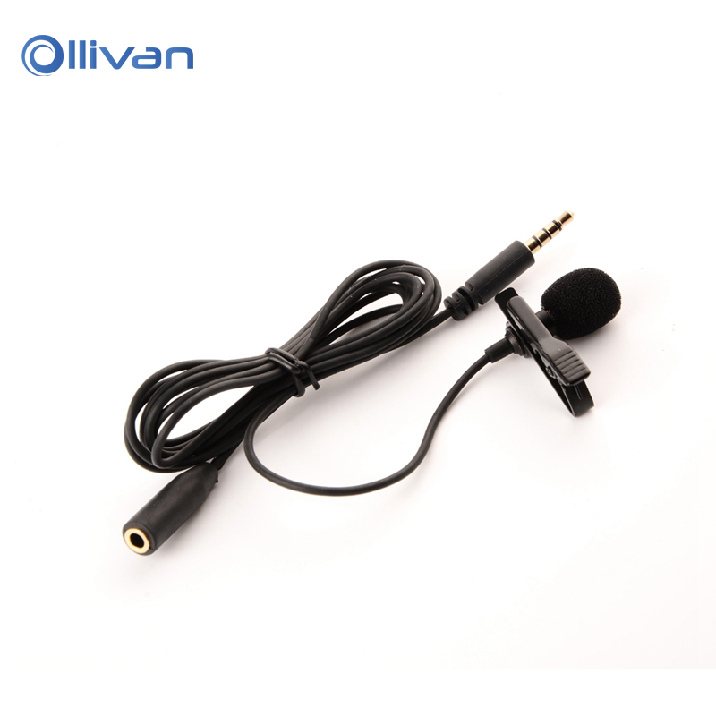Lavalier Mobile Phone Webcast Microphone Mini Microphone Lavalier Omnidirectional Condenser Recording Mic for Mobile phone pc
