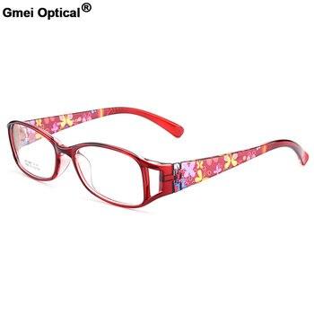 Nieuwe Collectie Gmei Optische Kleurrijke Vrouwen Volledige Velg Optische Brillen Frames Urltra-Light TR90 Plastic Vrouwelijke Bijziendheid Eyewear M5098