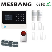 wifi alarm system GSM alarm system with door detector motion sensor home security alarm system free shipping