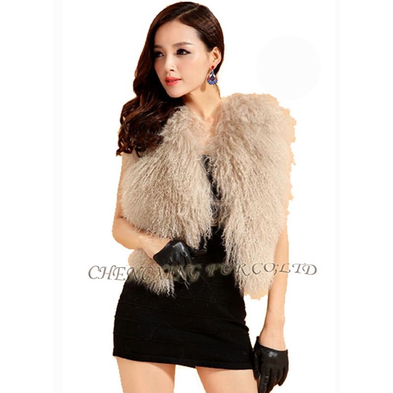 CX-G-B-51C настоящий монгольский овечка меховой жилет женский сексуальный короткий жилет зимнее пальто Меховая куртка