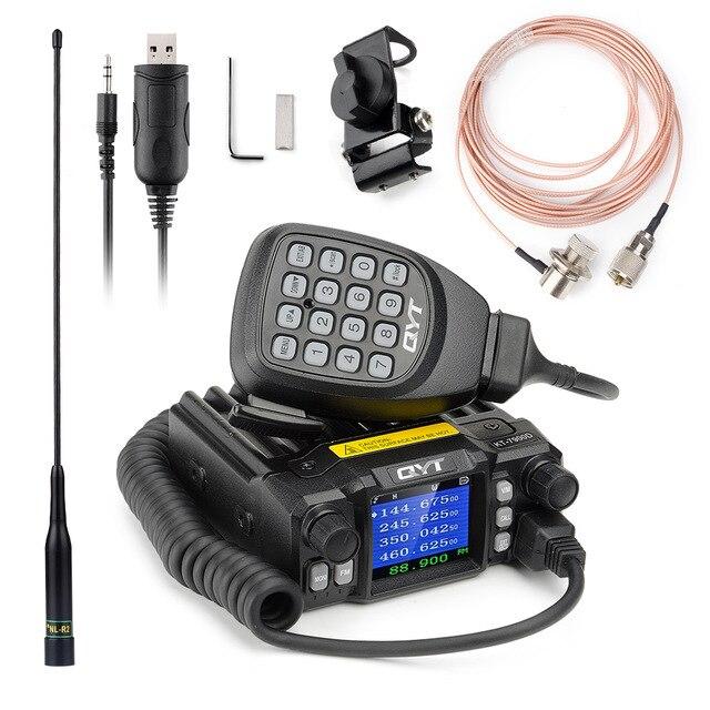 QYT 7900D 25W Quad band Mobile Radio transceiver 144/220/350/440MHZ 25W Schinken auto Mobile Radio mit Programm Kabel + Reiche Geschenk