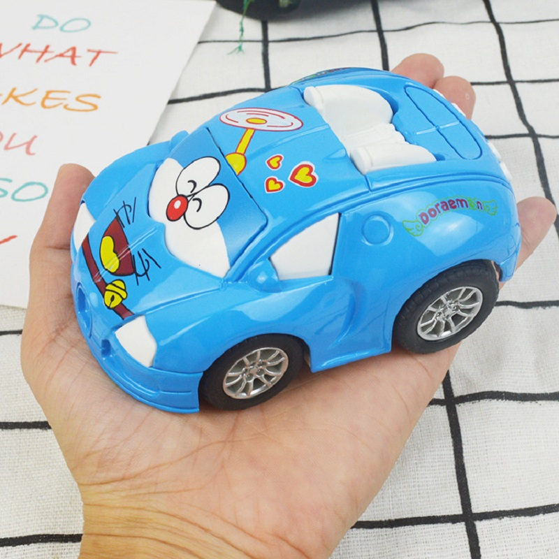 Doraemon Mini size car 1:36 scale cute alloy car with pull back function Doraemon Cats model toys for kids gift free shipping