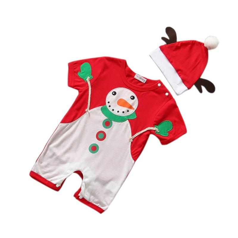 Children Girls Cotton Dress Santa Claus Costumes Baby Girl's Dress Christmas Clothing Cute Baby Boys