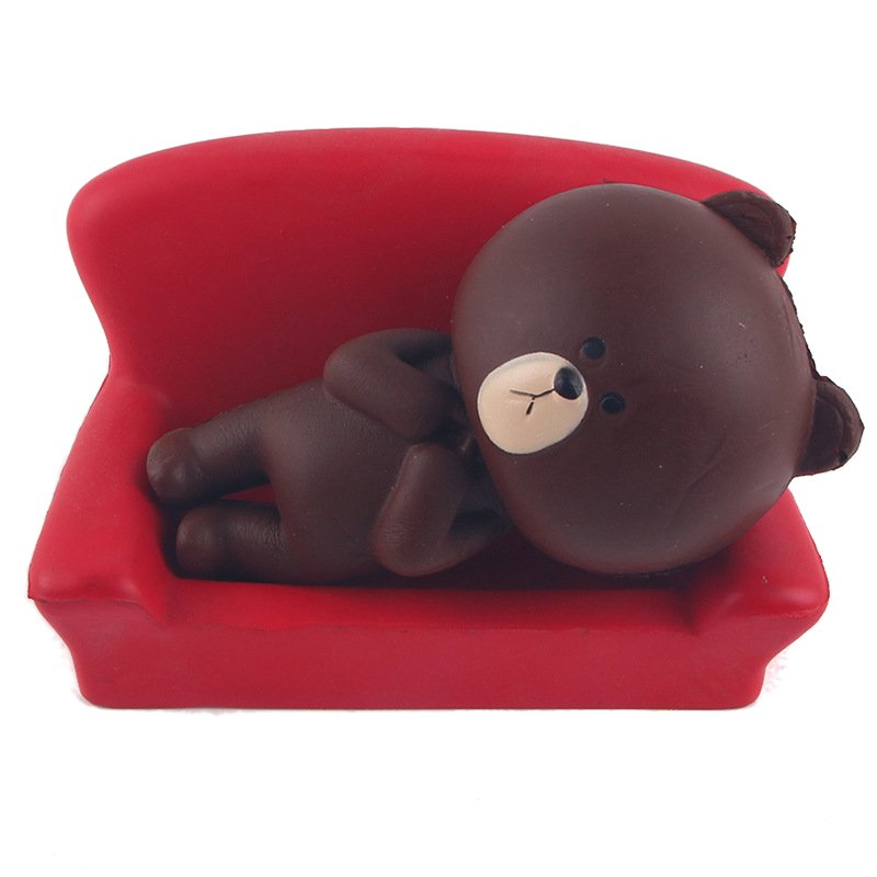 5PCS Squishy Brown Bear Jumbo 11cm With Packaging Collection Slow Rising Decor Gift Toy