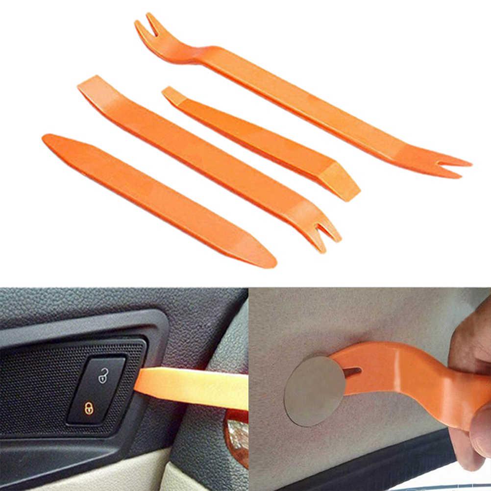 4 adet/takım plastik araba radyo kapı klip paneli Trim Dash ses temizleme Pry aracı tamiri