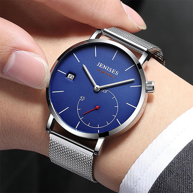Fashion Quartz Men Watch Top Brand Luxury Business Waterproof Steel Wrist Watch Men Clock Male Watch erkek kol saati Horloges brand military relogio masculino shark sport watch men erkek kol saati chronograph leather band clock wrist quartz watch sh253