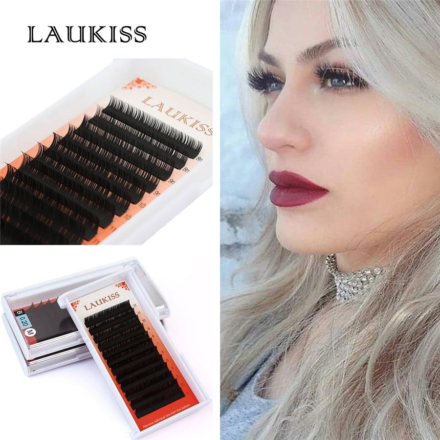 12lines/Box Permanent False Eyelashes Extension Kit Cilia For Augmentation Handmade Professional Makeup Tool LAUKISS