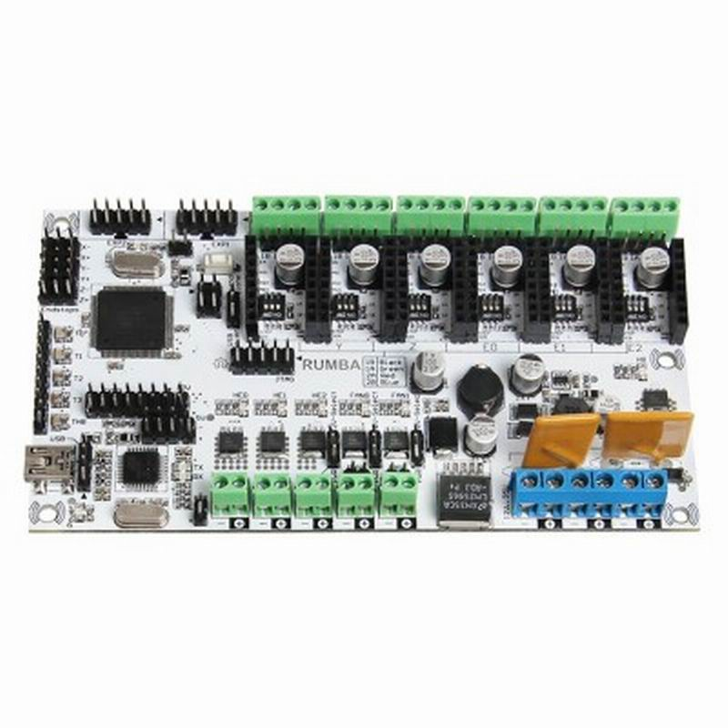 Rumba 3D Printer Controller Board For 3D Printers Supporting 6 Pieces of 16 Micro Stepping Drivers A4988 3d printer driver controller rumba  usb cable