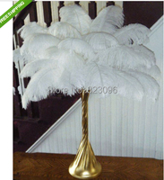 Free shipping wholesale Quality 50pcs perfect natural white ostrich feather 24-26inch/60-65cm Variety of decorative diy