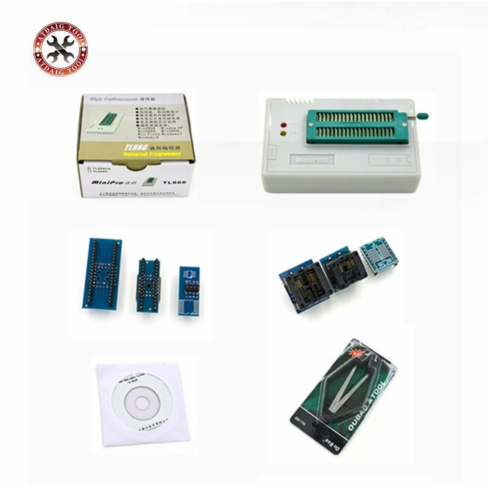 imágenes para Minipro TL866CS Prgrammer Universal USB Programador/Programa Bios 6 unids Adaptador Envío Gratis