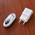 1 conjunto usb plug ue parede adaptador de viagem com 1 m micro usb cabo do carregador rápido para samsung galaxy note 5 note 4 s6 s6edge + carregamento