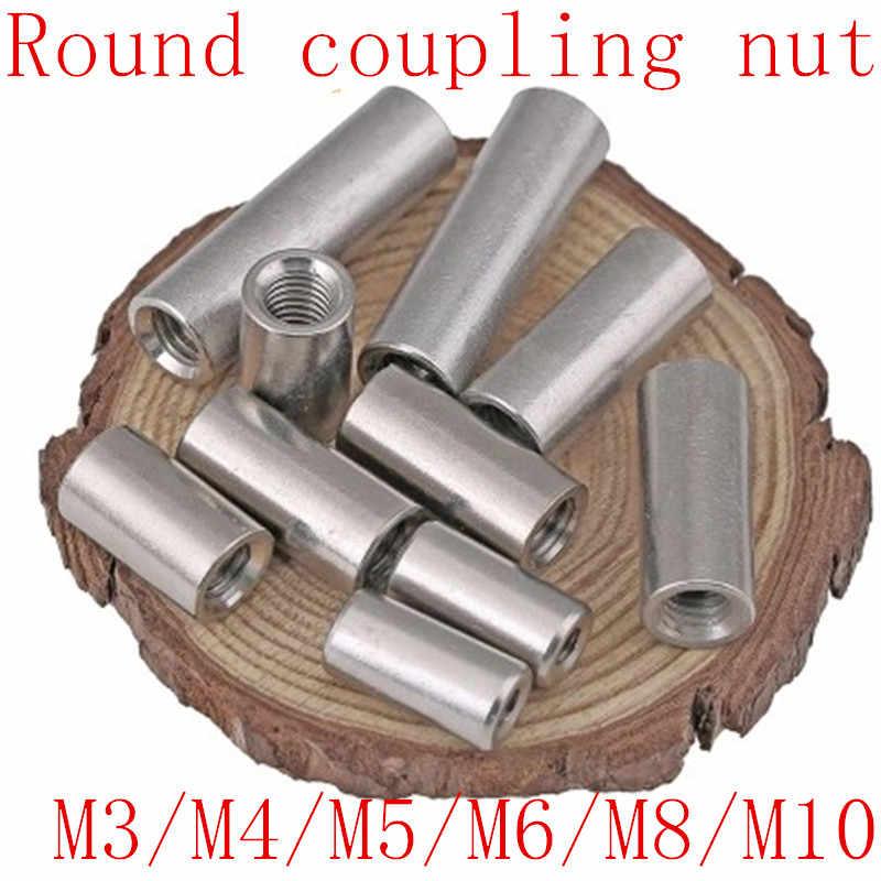 1-5 adet M3 M4 M5 M6 M8 M10 paslanmaz çelik uzatın uzun yuvarlak bağlantı somunu