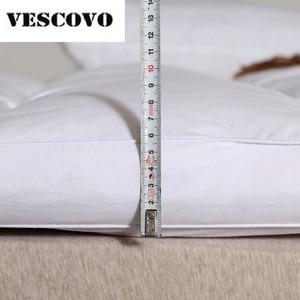Image 3 - مرتبة من القطن 100% 400TC مزدوجة الطبقات 100% بطة بيضاء أسفل أوزة ريشة حشو السرير حصيرة