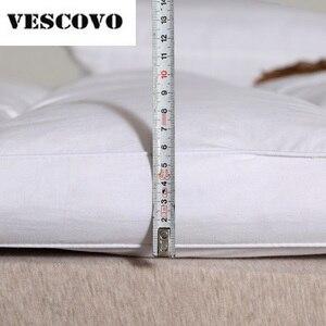 Image 3 - 100% Cotone 400TC Doppi Strati Zerbino treccia 100% Piume Danatra Bianca Imbottiture Oca Piuma di Riempimento Letto Zerbino