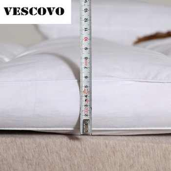 100% Cotton 400TC Double Layers Mattress 100% White Duck Down Goose Feather Filler Bed Mat