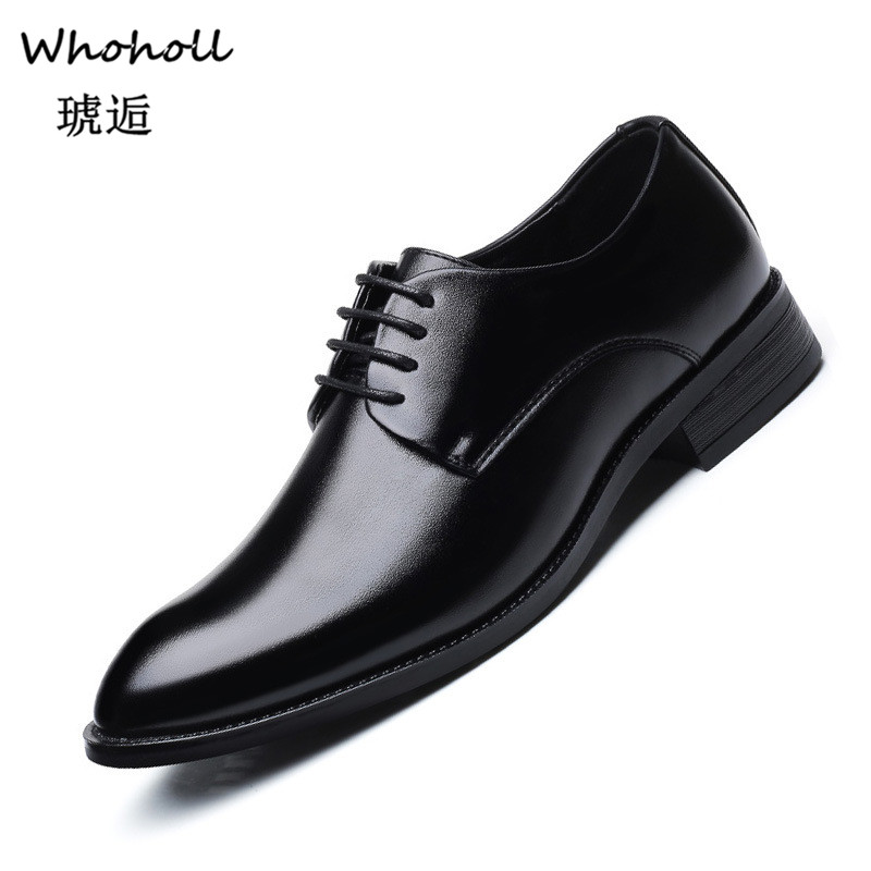 Whoholl Men Wedding Shoes Microfiber Leather Formal Business Pointed Toe for Man Dress Shoes Men 39 s Oxford Flats Plus Size 39 48 in Formal Shoes from Shoes