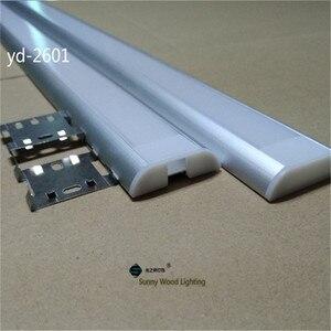 Image 2 - Алюминиевый профиль для двухрядной светодиодной ленты, 26 мм, 2 10 шт./лот, 0,5 м/катушка
