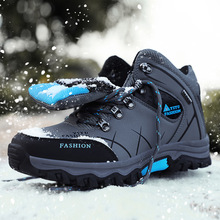 Mingpinstyle 2018 New Men Vulcanized shoes Autumn Winter warm anti slip Waterproof Big Size Cold Frost Add Cotton Men Sneakers
