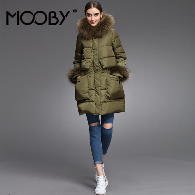 Women Winter Parka Fashion Slim Waist 90% White Duck Down Jacket ...