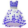 3-12Y vestido da menina para a festa de casamento novo estilo de Lantejoulas flores vestidos de princesa meninas vestidos de verão menina Manchas