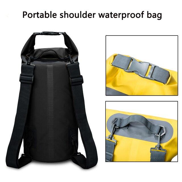 c5967dad23e7 5L 10L 15L 20L Waterproof Bags Dry Bag PVC Waterproof Backpack Outdoor Sports  Bag Rafting Swimming Backpacks Impermeable Dry Bag