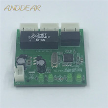 OME 3 Porte Switch modulo PCBA 4 Spille Intestazione UTP PCBA Modulo con Display A LED Vite foro di posizionamento Mini PC dati OEM di Fabbrica
