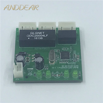 цена OME 3 Ports Switch module PCBA 4 Pin Header UTP PCBA Module with LED Display Screw hole positioning Mini PC  Data OEM Factory онлайн в 2017 году