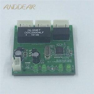 Image 1 - Ome 3 포트 스위치 모듈 pcba 4 핀 헤더 utp pcba 모듈 led 디스플레이 나사 구멍 위치 미니 pc 데이터 oem 공장