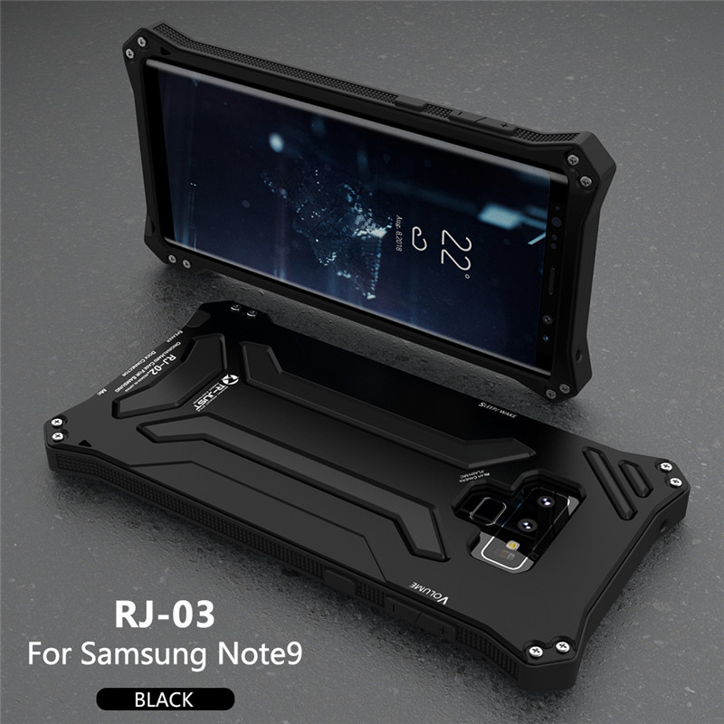 R-JUST case for Samsung Note 9 Aluminum Case Splashing water/Anti-dusty/Anti-shock Phone Cases metal CoversR-JUST case for Samsung Note 9 Aluminum Case Splashing water/Anti-dusty/Anti-shock Phone Cases metal Covers