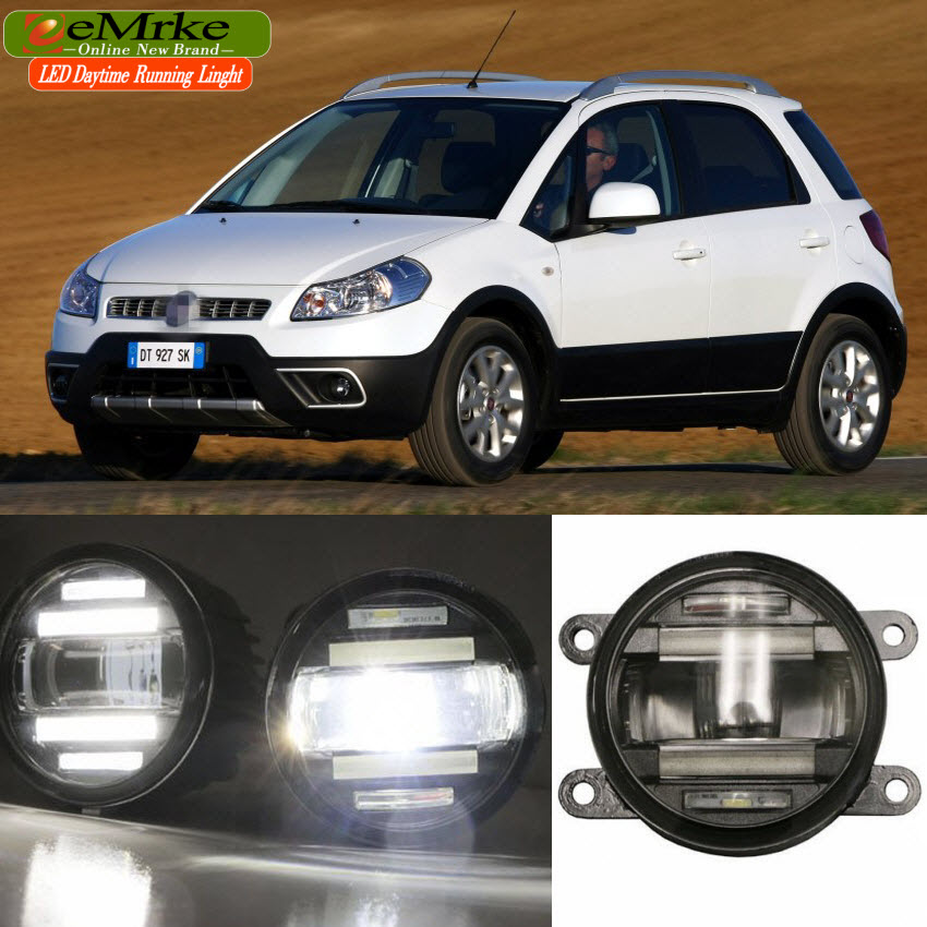 eeMrke Car Styling For Fiat Sedici 2009-2015 2 in 1 LED Fog Light Lamp DRL With Lens Daytime Running Lights сковорода со съемной ручкой nadoba vilma 20 см