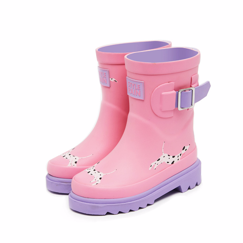 Maggies Walker Baby boys and girls rainboots Children cartoon mid-calf waterproof shoes Kids antiskid footwearMaggies Walker Baby boys and girls rainboots Children cartoon mid-calf waterproof shoes Kids antiskid footwear