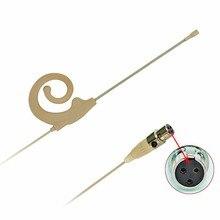 3 Pin Mini XLR штекер 3,5 мм Диаметр микрофон кожи Цвет всенаправленная Тип мини одного уха подвесная гарнитура с микрофоном