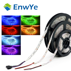 Image 5 - EnwYe 5M 300Leds waterproof RGB Led Strip Light 3528 5050 DC12V 60Leds/M Fiexble Light Led Ribbon Tape Home Decoration Lamp
