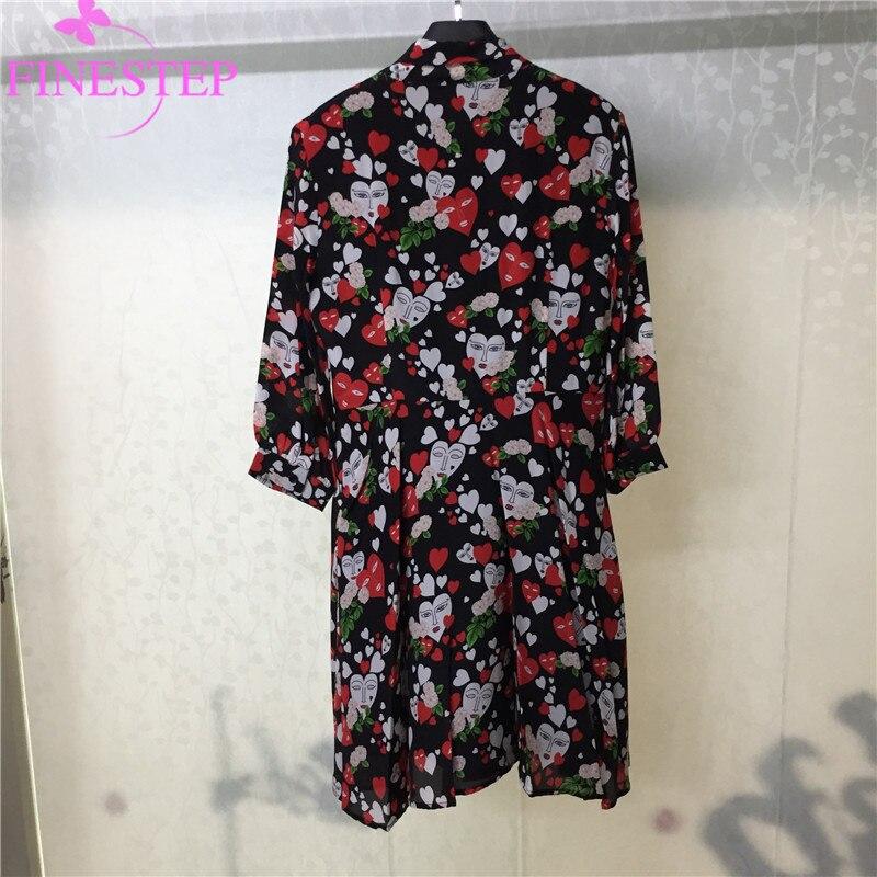 Kragen Kleider Kleid Peter Phantasie 100seide Gedruckt Blume F Pan Party 435ARLqj