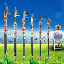 Super Light Carbon Portable Telescopic Pole Saltwater Casting Spinning Fish Pole Hand Sea Fish Tackle New Dropshipping 2018 Hot